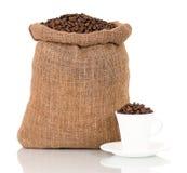 Кофе в мешке Стоковые Фото