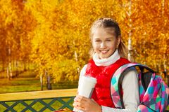 Кофе в парке после школы Стоковая Фотография RF