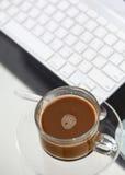 Кофе в рабочем временени Стоковое Изображение