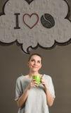 Кофе влюбленности концепции i стоковое изображение