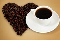 Кофе влюбленности Стоковое фото RF