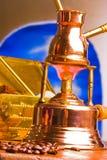 кофе делая turkish стоковое фото