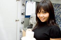 кофе дела пролома принимает женщину Стоковое Изображение