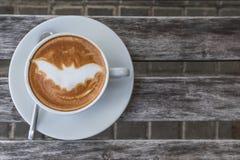 Кофе летучей мыши хеллоуина Стоковые Изображения RF