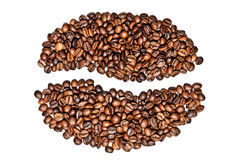 Кофе зерна от фасолей на белизне Стоковое Изображение RF