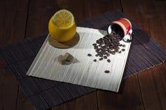 Кофе зерна с оранжевым индюком Стоковые Фото