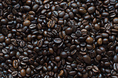Кофе зерна черный Стоковое Изображение RF