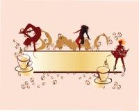кофе знамени Стоковое Изображение