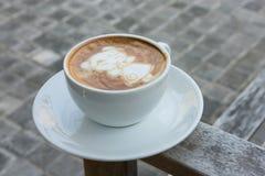 Кофе искусства китайской девушки Нового Года последний Стоковые Изображения RF