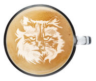 Кофе искусства latte взгляд сверху Стоковое Изображение RF