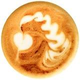 Кофе искусства Latte изолированный в белой предпосылке Стоковое Изображение RF