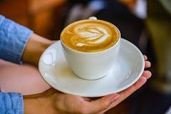 Кофе искусства Latte стоковые изображения
