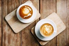 Кофе искусства Latte Стоковая Фотография RF