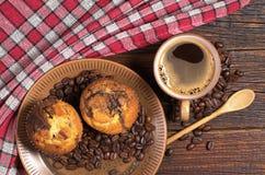 Кофе и булочка Стоковое фото RF