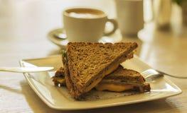 Кофе и здравица, завтрак Стоковое Изображение