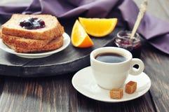 Кофе и здравица стоковая фотография rf