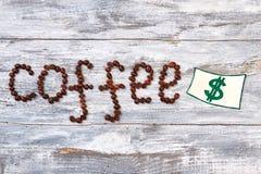 Кофе и изображение денег Стоковое фото RF