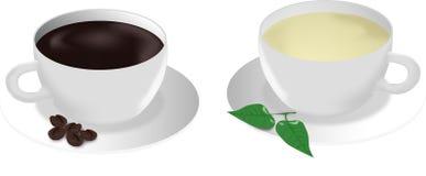 Кофе или чай бесплатная иллюстрация