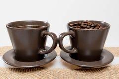 Кофе и кофейные зерна Стоковое Изображение RF