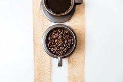 Кофе и кофейные зерна Стоковые Фото