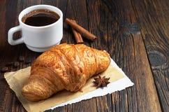 Кофе и круасант Стоковое Изображение RF