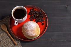 Кофе и донут Стоковое Фото