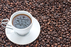 Кофе и отражение Стоковое фото RF