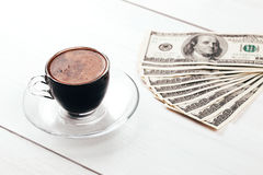 Кофе и доллары Стоковое фото RF