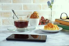 Кофе и пейзаж хлебопекарни Стоковое Фото