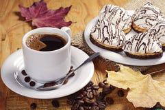 Кофе и печенья с зефиром Стоковые Изображения RF