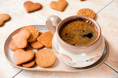 Кофе и печенья Стоковое Изображение RF