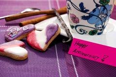 Кофе и печенья Стоковая Фотография RF