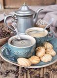 Кофе и печенья Стоковые Фотографии RF