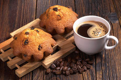 Кофе и пирожные Стоковое фото RF