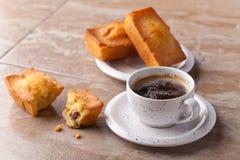 Кофе и пирожные Стоковые Изображения