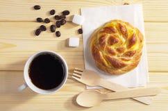Кофе и плюшка Стоковое фото RF