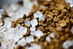 Кофе и сахар стоковая фотография