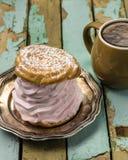 Кофе и сладостная конфета стоковая фотография rf