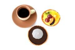 Кофе и торты стоковое изображение rf