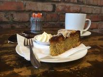Кофе и торт кафа перерыва на чай утра Стоковая Фотография