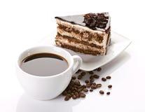 Кофе и торт стоковое изображение rf