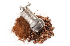 Кофе и точильщик Стоковое Фото