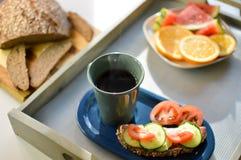 Кофе и хлеб завтрака Стоковая Фотография RF