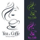 Кофе и чай логотипа Стоковое Изображение RF