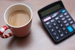 Кофе и чалькулятор Стоковое фото RF