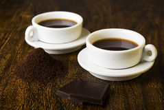 Кофе и шоколад Стоковые Изображения
