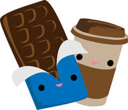 Кофе и шоколад Стоковое Фото