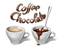 Кофе и шоколад Стоковое Изображение