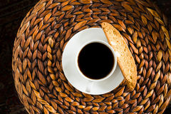 Кофе и Biscotti рождества Стоковое Фото