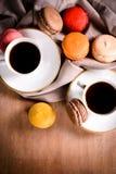 Кофе и macaroons Стоковое фото RF